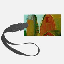 Old Red Barns And Silo Luggage Tag