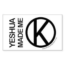 """Yeshua Made Me Kosher"" Rectangle Decal"