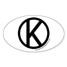 """""""Kosher"""" Oval Decal"""