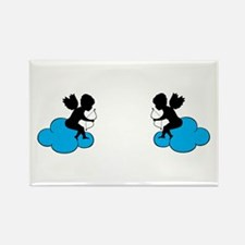 Cupids on Clouds Magnets