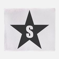 Letter in a Star Throw Blanket