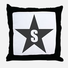 Letter in a Star Throw Pillow