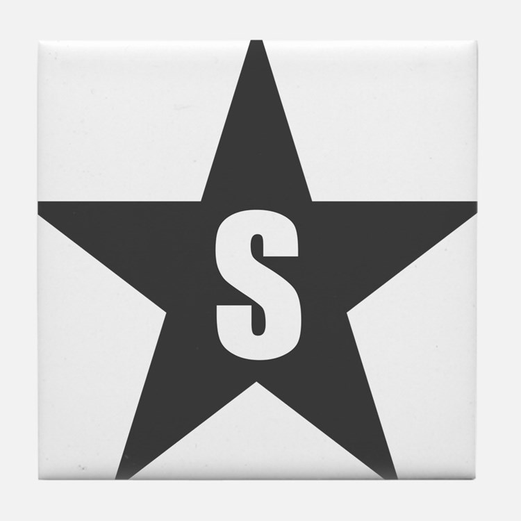 Letter in a Star Tile Coaster