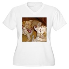 "2 Yellow Labs ""In Love"" T-Shirt"