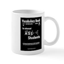 Vocab Book Cover (black & white) Mugs