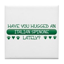 Hugged Spinone Tile Coaster