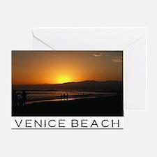 Venice Beach Sunset king size Greeting Card
