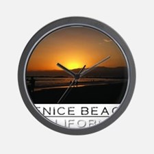 Venice Beach Sunset king size Wall Clock