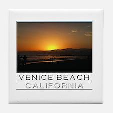 Venice Beach Sunset king size Tile Coaster