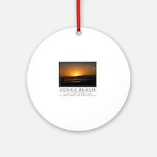 Venice Beach Sunset king size Round Ornament