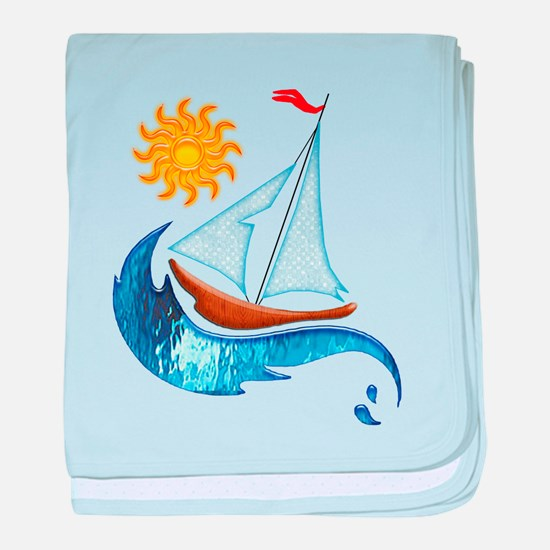 Funny Sailboat baby blanket