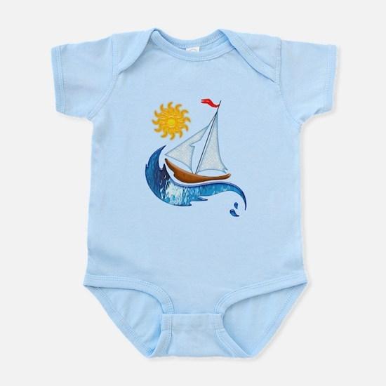 Sailboat Ocean and Sun Body Suit