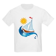 Sailboat Ocean and Sun T-Shirt