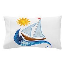 Cute Sailboat Pillow Case