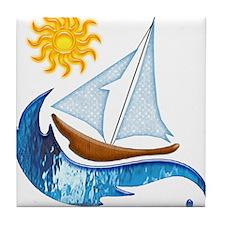 Boats Tile Coaster