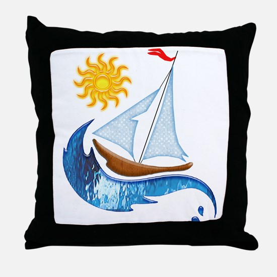 Cute Sailing Throw Pillow