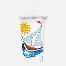 Cool Sailboats Acrylic Double-wall Tumbler