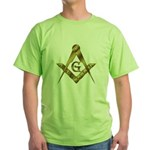 Master Masons Golden Square and Compasses Green T