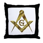 Master Masons Golden Square and Compasses Throw P