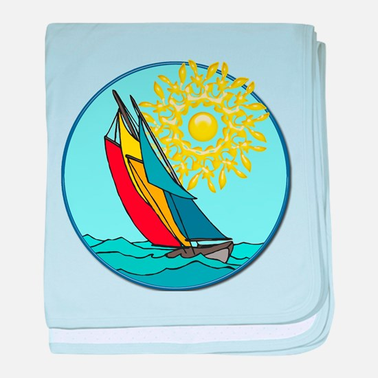 Cute Sailboat baby blanket