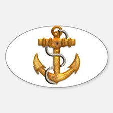 Brushed Gold Metallic Boat Anchor Decal