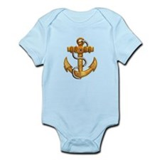Brushed Gold Metallic Boat Anchor Body Suit
