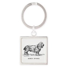 Sussex Spaniel Square Keychain