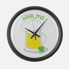 Beer Me Large Wall Clock