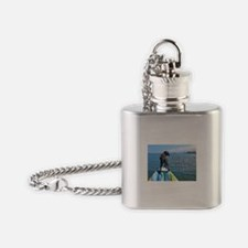 Cute Dog and kayak Flask Necklace