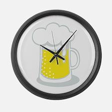 Foamy Beer Large Wall Clock