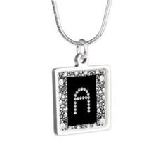 Diamond Infinity: A Silver Square Necklace
