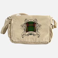 Young Tartan Shield Messenger Bag