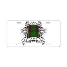 Young Tartan Shield Aluminum License Plate