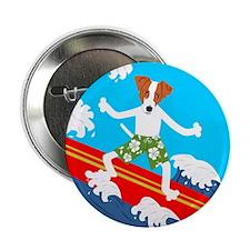 Jack Russell Terrier Surfer Button