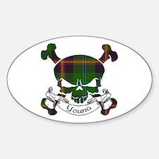 Young Tartan Skull Decal