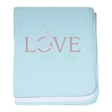 Sending love your way baby blanket