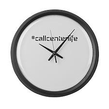 #callcenterlife Large Wall Clock