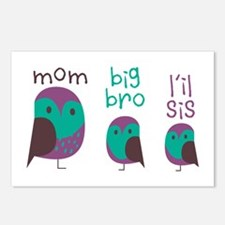 Owl Family Postcards (Package of 8)