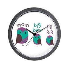Owl Family Wall Clock