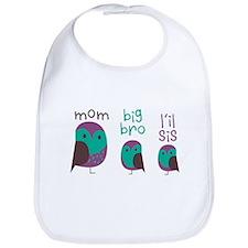 Owl Family Bib