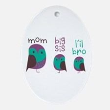 Owl Mom Ornament (Oval)