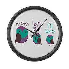Owl Mom Large Wall Clock