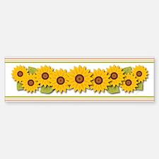 Sunflowers Bumper Bumper Bumper Sticker