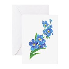 Forget Me Not Flower Watercolor Painting Greeting