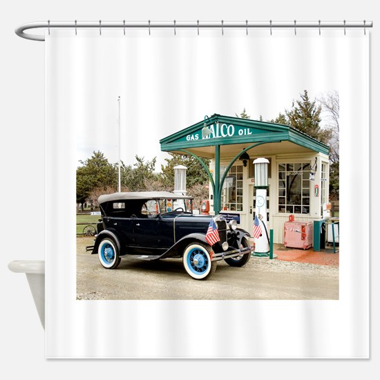 Cute Classic car Shower Curtain