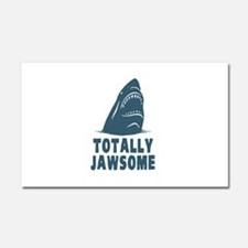 Totally Jawsome Awesome Shark Car Magnet 20 x 12