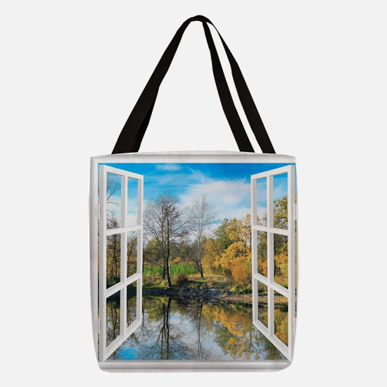 Lake View Polyester Tote Bag