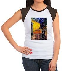 Cafe & Schipperke Women's Cap Sleeve T-Shirt