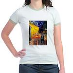 Cafe & Schipperke Jr. Ringer T-Shirt
