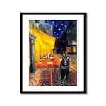 Cafe & Schipperke Framed Panel Print